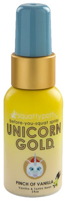 Squatty Potty Unicorn Gold Toilet Spray, Pinch Of Vanilla, 2 Ounce